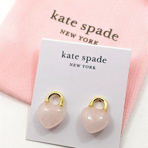 Kate Spade Open Heart Stone Lock Studs